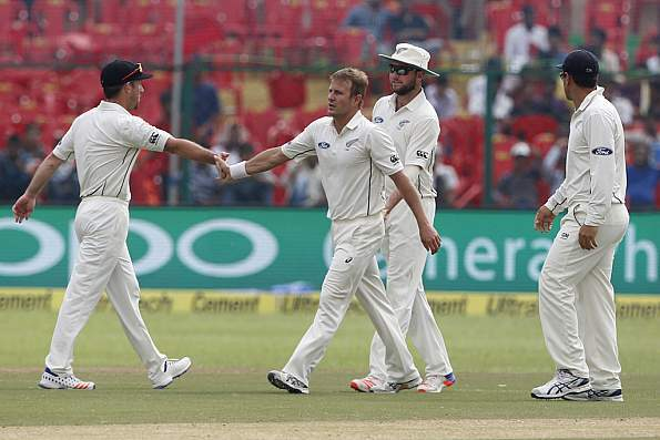 Live Cricket Score of India vs New Zealand, 1st Test, Day 2 at Kanpur