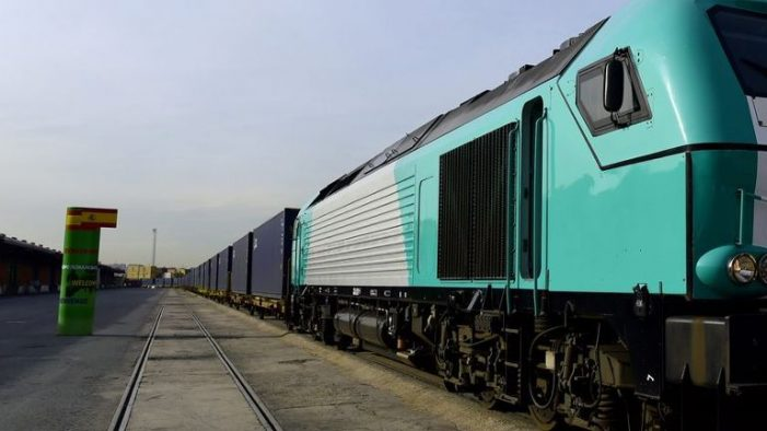 China begins first freight train service to London