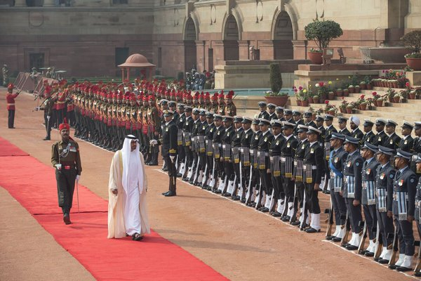 UAE Crown Prince in India