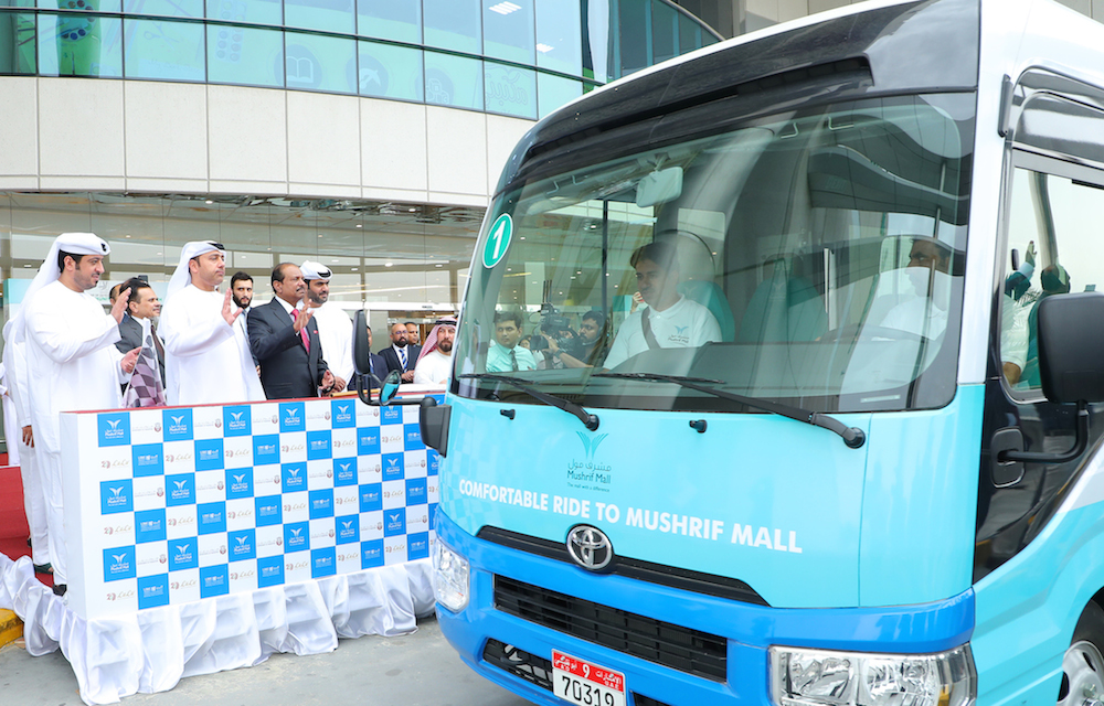 Convenient Eco-Friendly Initiative Launched in Abu Dhabi In cooperation with Department of Transport (DoT)Mushrif Malllauncesthe firstmall ledenvironment friendly initiative in Abu Dhabi to reduce traffic congestion and ease local commute