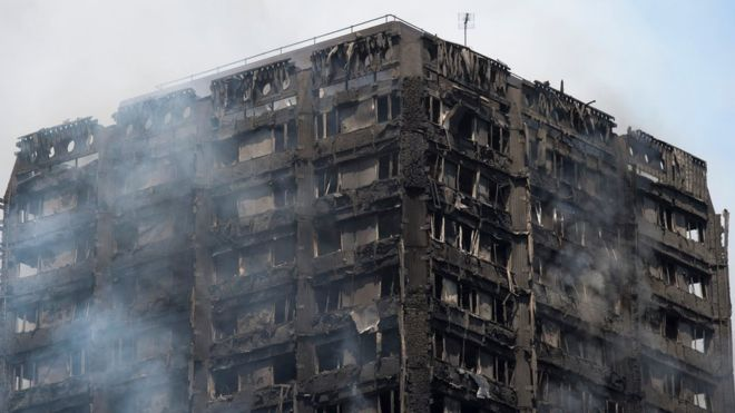 Massive Fire at  London Grenfell Tower